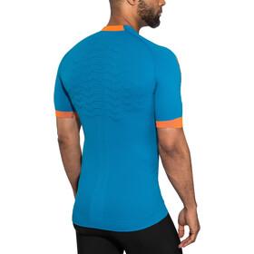 X-Bionic The Trick G2 Run Shirt SS Men teal blue/dark ruby